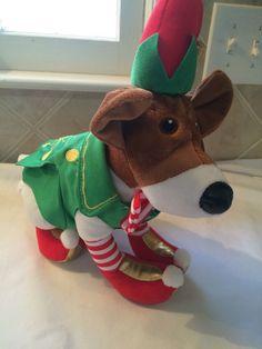Eddy the Elf Plush Dog Santa Paws 2 Pups Eddie Christmas Authentic Disney Store Christmas Elf, The Elf, Pup, Santa, Store, Disney, Dogs, Ebay, Doggies