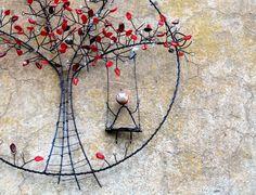 Dekorácie - Pojď si hrát. Drátovaný strom. - 6391673_