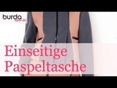 burda style: Einseitige Paspeltasche nähen – Video: burda style/Lena Klippel/Theresa Bachler