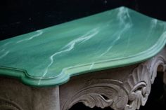 Painted in Annie Sloan Amsterdam green Antibes green and Chicago grey faux marble chalk paint Antibes Green, Annie Sloan Chalk Paint, Amsterdam, Marble, Chicago, Grey, Painting, Gray, Painting Art