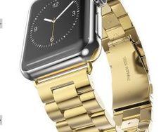 iWatch náramok na Apple hodinky z článkovej ocele - zlatý http://www.luxusne-doplnky.eu