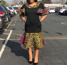 Image of Ankara Patch sunshine flair dress African Maxi Dresses, Ankara Dress Styles, African Fashion Ankara, Latest African Fashion Dresses, African Dresses For Women, African Print Fashion, African Attire, Modern African Dresses, African Traditional Dresses