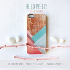 iPhone 5 Case Wood Print iPhone 5s Case Chevron by HelloNutcase