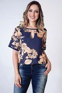 Fashion For Women Over 40, Colourful Outfits, Top Pattern, Clothing Patterns, Blouse Designs, Casual Looks, Blouses For Women, Shirt Style, Ideias Fashion
