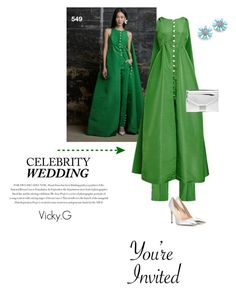 """""""Set # 549 /  You're Invited: Celebrity Wedding"""" by vassiliki-g ❤ liked on Polyvore featuring Rosie Assoulin, Miu Miu, Loeffler Randall, Gianvito Rossi, Envi, women's clothing, women, female, woman and misses"""