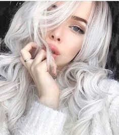 Wow,so gorgeous babe, love your style so much. You totally rock this blonde wavy hair. How do you like it, girls ? Mint Hair, Neon Hair, Pastel Hair, Ice Blonde Hair, Silver Blonde Hair, Platinum Blonde Ombre, Long White Hair, Dream Hair, Girl Hairstyles