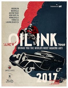 I have the pleasure to create the new OIL & INK 2017 USA TOUR POSTER ©lorenzo eroticolor