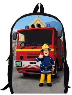 17inch fireman backpack double layer children anime custom made School Kids Cartoon boy bag men women
