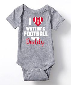 Love this Athletic Heather Football With Daddy Bodysuit - Infant on #zulily…