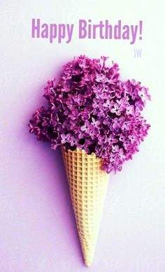 Birthday - a cone of lilacs