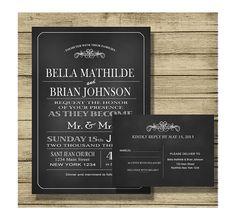Invitaciones de boda personalizadas IMPRIMIBLES  de By Yolanda por DaWanda.com