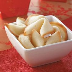 Homemade Fortune Cookies Recipe from Taste of Home -- shared by Susan Bettinger of Battle Creek, Michigan