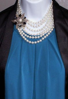 Pearls Night Out Pin with Opening Night necklace wrapped