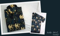 Kemeja Batik 64C | IDR 75.000 | Bahan : Sandwash | Size M, L, XL | Order : 081333303545