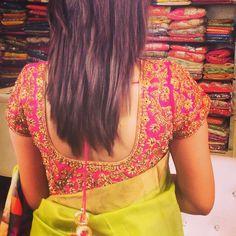 Designer Blouse Bridal Blouse Designs, Blouse Neck Designs, Blouse Patterns, Blouse Styles, Wedding Blouses, Wedding Saree Blouse, Wedding Lenghas, Indian Costumes, Choli Designs