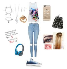 """""""Music """" by unicornchaby ❤ liked on Polyvore featuring Topshop, Journee Collection, BERRICLE, Allurez, Casetify, Converse and Beats by Dr. Dre"""