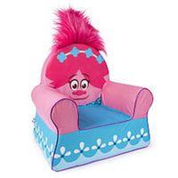 DreamWorks Trolls Poppy Marshmallow Furniture Children's Upholstered Comfy Chair