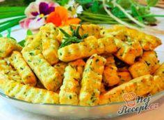 Slané sýrové tyčinky s bylinkami Carrots, Shrimp, Food And Drink, Meat, Vegetables, Recipes, Beef, Food Recipes, Carrot