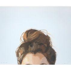 Dies ist ein 8 x 10 open Edition-Giclée Druck von meinem original Ölgemälde von einer Frau mit einem Haarknoten.  Bild ist auf hochwertige 50lb