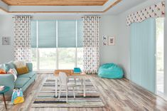 Make safety a priority with cordless shades and draperies for your children's playroom. Beautiful Blinds, Aluminum Blinds, Honeycomb Shades, Horizontal Blinds, Budget Blinds, Cellular Shades, Custom Window Treatments, Custom Windows, Window Coverings