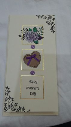 Mothers day card  stamped using Fabulous floral clear stamp set and coloured March 17