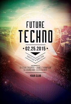 Future Techno Flyer by styleWish (Buy PSD file - $9) #design #poster #graphic