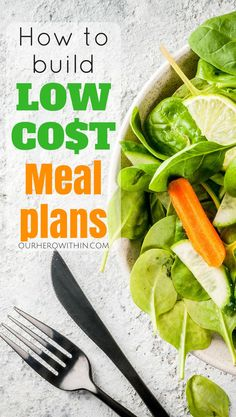 Meal Plans. How to Build low cost, budget meal plans. #mealplans #budgetingtips #nutrition