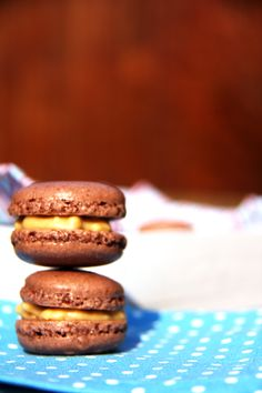 my Chocolate macarons