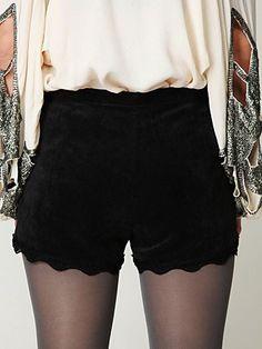 Scalloped shorts! YES!