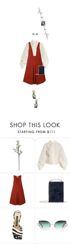 """""""Untitled #1897"""" by maja-z-94 ❤ liked on Polyvore featuring Lemaire, Chloé, Eddie Borgo, Sergio Rossi and Fendi"""
