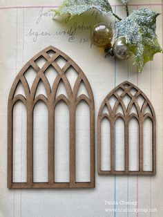 Hi Friends, One of my favorite projects I've created this season is my Vignette Tray using the new Cathedral Windows from Stamper Anonymou.