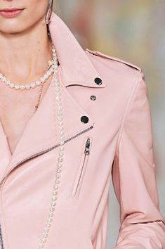 Pink Leather Jacket by Ralph Lauren