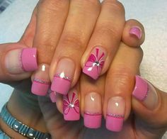 Check Out 25 Amazing Acrylic Nails Art Designs. Acrylic nails look so cute and beautiful. They not only enhance your hands beauty, but also make a very crisp shape of your nails. I hope this acrylic nail art designs will be liked by you all. Bow Nail Art, Acrylic Nail Art, Easy Nail Art, Acrylic Nail Designs, Simple Nail Art Designs, Beautiful Nail Designs, Beautiful Nail Art, Cute Simple Nails, Cute Pink Nails