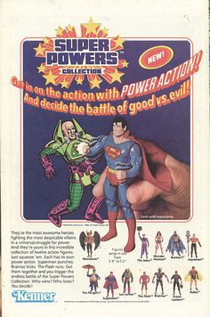 1984 Kenner ad for Super Powers figures by Paxton Holley
