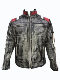 Mens Vintage Cafe Racer Retro Biker Black Distressed Leather Jacket  Product Details:  Made with durable and fine quality leather. Long lasting elegant product. Brand new with tags YKK zip Clousre Black Distress