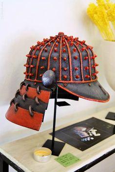 Gorro samurai cerámica