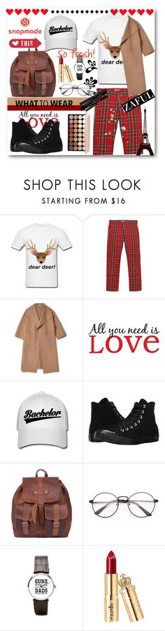 """Snapmade"" by kengy-x ❤ liked on Polyvore featuring Brewster Home Fashions and Converse"