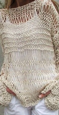 DIY - 20 Inspirations for your knitting fabric- Verónica Stuto- # clothing # . - DIY – 20 inspirations for your knitting fabric- Verónica Stuto- # clothing # Inspiratio - Knitting Needles, Hand Knitting, Love Crochet, Knit Crochet, Stitch Patterns, Knitting Patterns, Boho Crochet Patterns, Summer Knitting, Crochet Summer