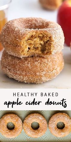 The perfect fall treat these healthier baked apple cider donuts are made with whole wheat pastry flour coconut sugar Greek yogurt and coconut oil. The post Healthy Baked Apple Cider Donuts appeared first on Dessert Platinum. Fall Recipes, Sweet Recipes, Autumn Recipes Baking, Healthy Pumpkin Recipes, Fun Baking Recipes, Kitchen Recipes, Holiday Recipes, Keto Recipes, Dinner Recipes