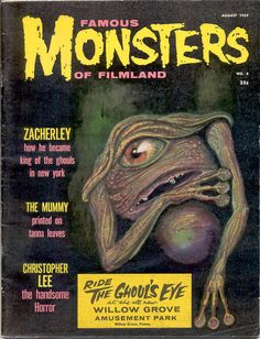 "Famous Monsters of Filmland. No. 4. 1959. It even has the rare ""Ghoul`s Eye"" cover sticker."