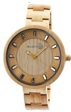 Earth Branch Collection ETHEW2801 Unisex Wood Watch with Wood Bracelet-Style  Band Cool Watches aea9d7c0c1a