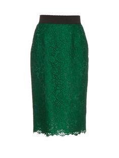Cordonetto-lace pencil skirt | Dolce & Gabbana