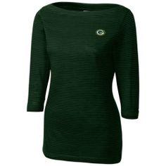 Finding Womens Green Bay Packers Cutter   Buck Green Holly Park Tonal  Stripe 3 4 6e045aba5