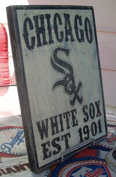 Chicago White Sox wall sign distressed by Route66VintageSigns