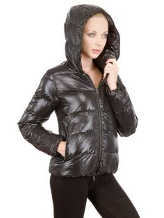 Buy Duvetica Women's Black Thia 5 Hooded Shiny Nylon Down Jacket, starting at €278. Similar products also available. SALE now on!