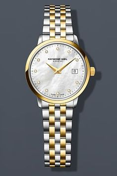 Raymond Weil Toccata White Mother of Pearl Dial Ladies Watch 5988-STP-97081