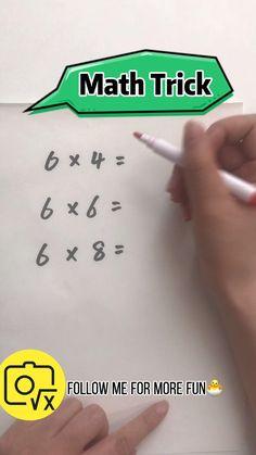 Cool Math Tricks, Maths Tricks, Math Hacks, Teaching Multiplication, Teaching Math, Math Strategies, Math Resources, Math For Kids, Fun Math