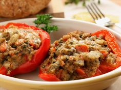 Baked Stuffed Peppers | mrfood.com