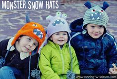 Tutorial & free pattern : Three-eyed Monster Hat - patron et tuto pour bonnet monstre à 3 yeux