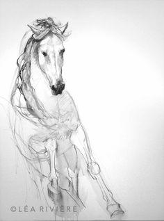 Dessin de Léa Rivière - Léa Rivière's drawing .©Léa Rivière toute reproduction en partie ou en totalité interdite/ #art #horse #chevaux #painting #drawing #dessin